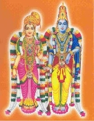 Archana to Lord Krishna and Andal (Goda Devi) at 6:15 am Daily